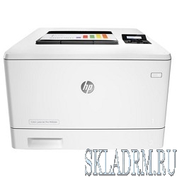 HP Color LaserJet Pro M452dn CF389A {Принтер, формат A4,600x600dpi,27(27)стр/мин, ImageREt3600,128Mb, Duplex, 2 trays 50+250,USB/ GigEth, ePrint, AirPrint, PS3, 1y warr, 4Ctgs1200pages in box}