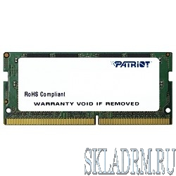 Patriot DDR4 SODIMM 4GB PSD44G213381S PC4-17000, 2133MHz