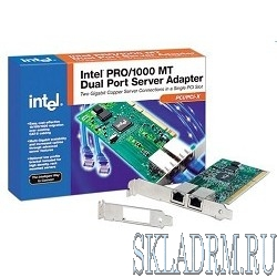 INTEL PWLA8492(MT) - OEM,  PRO/1000 MT Dual Port Server Adapter