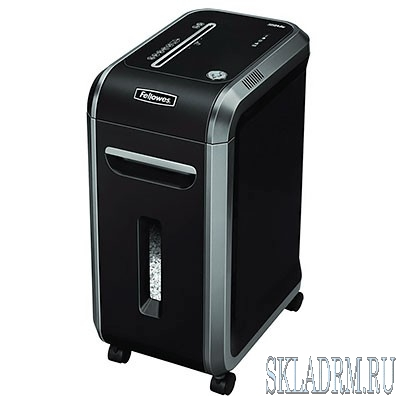 Fellowes Шредер MicroShred™ 99MS FS-46091(01) {DIN P-5, 2х14мм, 14лст.,34лтр.,SafeSense™, уничт.: скобы,карты}