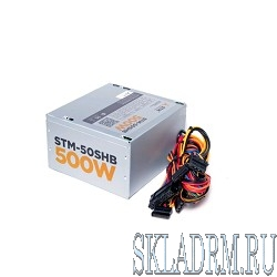 Блоки питания STM-50SHB 500W, ATX, 120mm ball bearing, 3xSATA