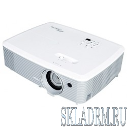 Optoma X345 Проектор {DLP (Full 3D), XGA (1024*768), 3200 ANSI Lm, 22000:1;10000 час.(в реж.Education); TR 1.49 - 1.93:1; Zoom 1,3x; HDMI1.4a;VGA; Composite; AudioIN 3.5mm; VGAout; AudioOUT 3.5mm}