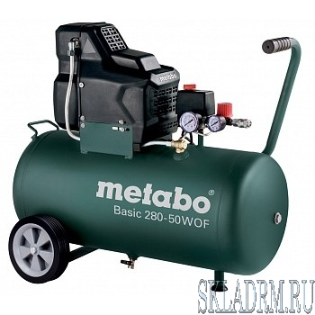 Metabo Basic 280-50 W OF  Компрессор [601529000] { Компрессор безмасл. 1.7кВт,50л }