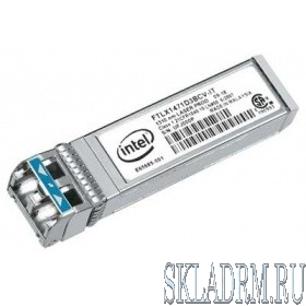 INTEL E10GSFPLR FTLX1471D3BCV-IT модуль Ethernet SFP+ LR Optics для Intel Ethernet Server Adapter X520-DA2
