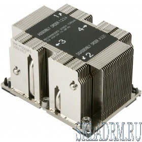 Supermicro SNK-P0068PS - 2U Passive CPU Heat Sink for LGA 3647, 108x78x64
